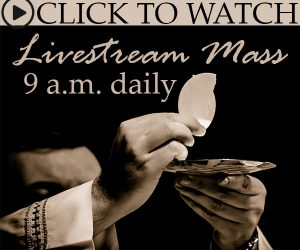 Livestream Mass Daily at 9 a.m.